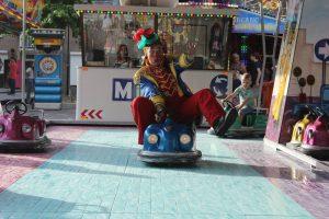 Clown Anka op de kermis in Helmond